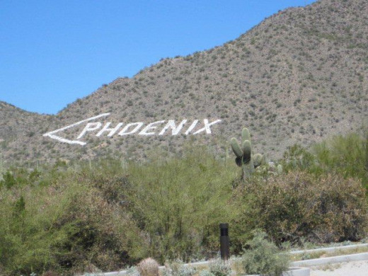 The famous Phoenix sign right outside the Usery Mountains