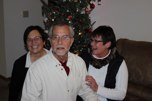 This was us at Christmas, not realizing that the timer was going to take multiple, rapid fire, pictures!