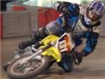 Preparing to crash during a Mini-Moto session at AllSports Grand Prix in Sterling VA.