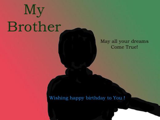 Happy Birthday Brother !