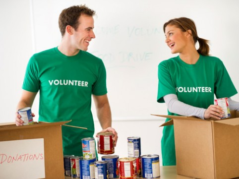 They make volunteering look fun. Maybe it is?