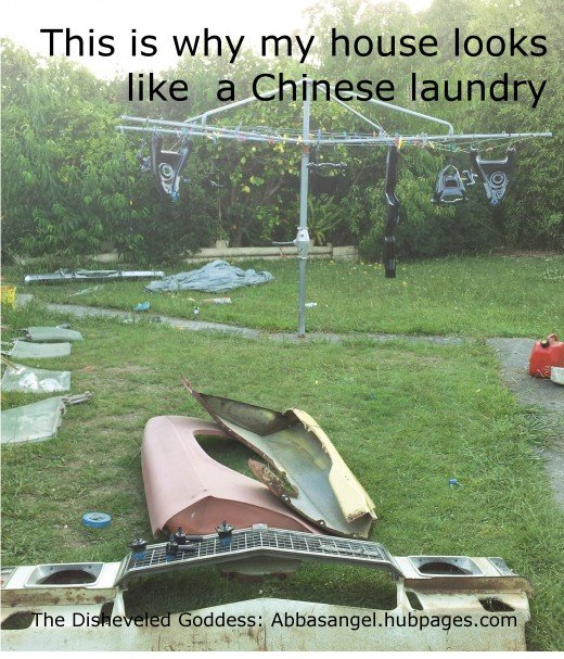 This is why my house looks like a Chinese laundry. How to fix up the laundry including a little do-it-yourself maintenance - easy as one, two and three. Sometimes making the house a home is by paying attention to to those rooms we don't use much,