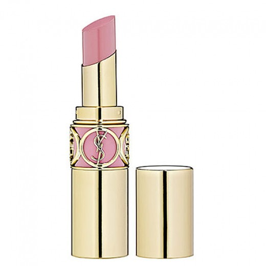 The lip stick in #7 Lingerie Pink - light creamy pink.