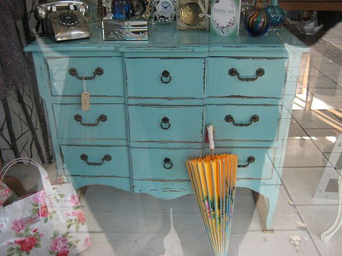 Pair this old dresser with a few modern furnishings for your interpretation of new southern design.
