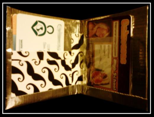 Inside of Mustache Wallet