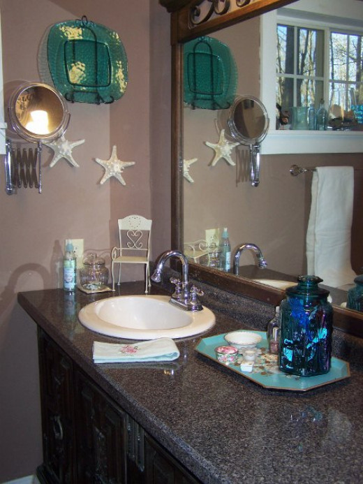 Remodeled Bathroom Vanity Using Old Dresser bathroom remodel using an old dresser for vanity. reuse, redo don