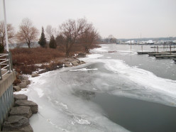 Frenchman's Bay. Pickering, Ontario, in winter