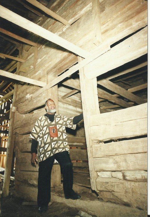 The Slave Jail that stands in the National Underground Freedom Center in Cincinnati once looked like this when it stood housed inside of a barn in Mason County, Kentucky.