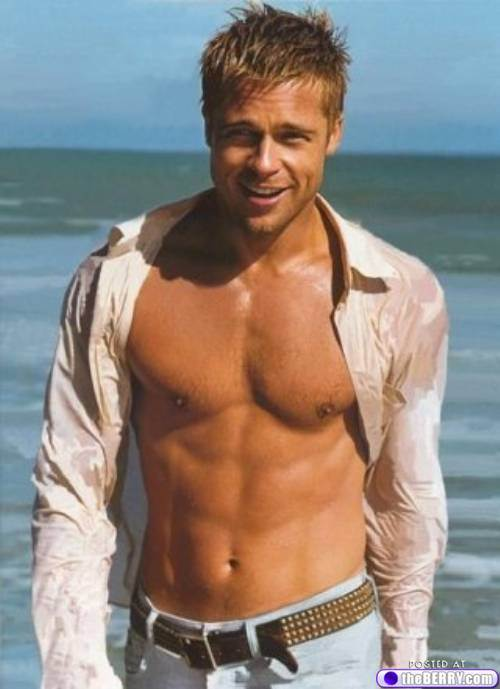 I'll even throw in a photo of Brad Pitt for the ladies.
