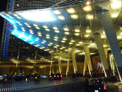 Aria Casino entrance canopy