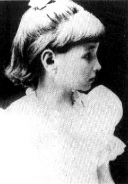 "Helen as a young girl, most likely after Annie Sullivan had made the breakthrough that ""words mean things."""