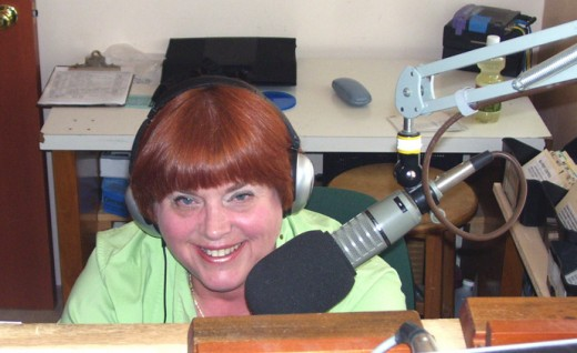 On the job at KFOK LP FM on my World of the Paranormal radio program. The show airs at 1 pm PST and can be streamed by going to www.kfok.org.