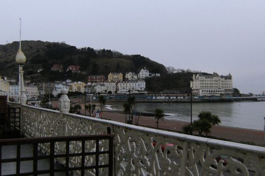View of The Great Orme from Hotel Balcony  Llandudno