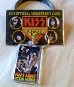 """Copies of """"Monster"""" sold at Best Buy in the US had a coupon inside good for a free """"KISS Monster Army"""" membership pack, which included a membership card, key chain and wristband. Of course, I had to order one."""