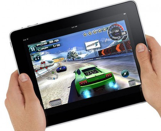 The iPad has millions of gaming apps available in its store.