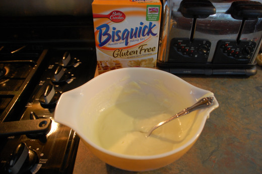 trying for less gluten in the family's diet, when we saw gluten-free Bisquick, we bought it