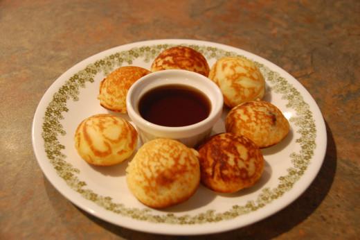 pancake puffs stuffed with sausage links