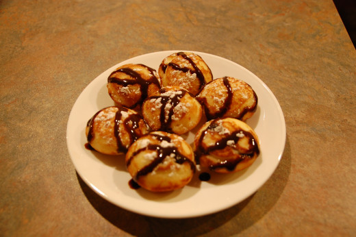 chocolate chip pancake puffs, delicious!