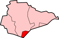 Map location of Eastbourne, East Sussex