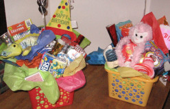 How to Make DIY Home Made Gift Baskets For Children's Birthdays With Items From the Dollar Store