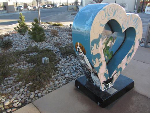 A HeART at the Centerra Shops in Loveland, Colorado