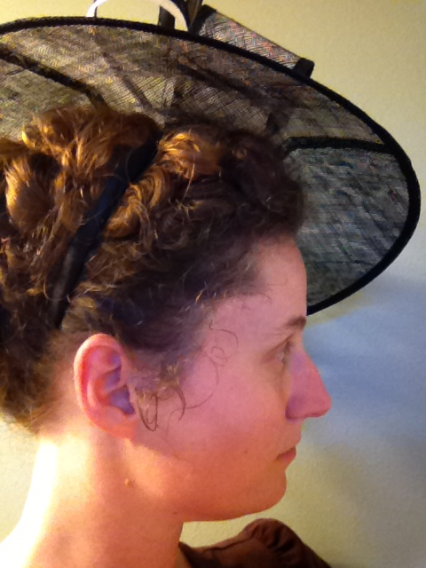 Larger fascinators can be worn with this hairstyle as well.