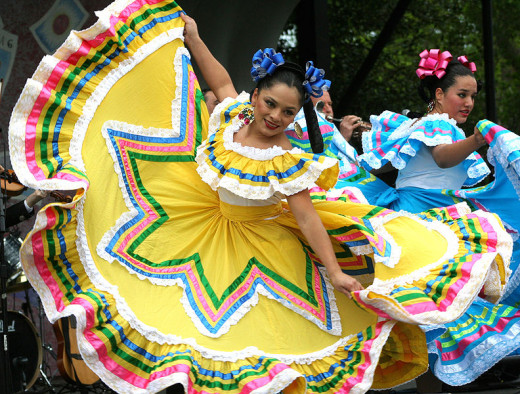 Dancers at the annual Cinco de Mayo Festival in Washington, DC were photographed by bdking on May 5, 2007