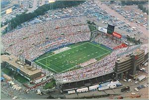 Schaefer Stadium (it's name was changed to Sullivan Stadium in 1983 and to Foxboro Stadium in 1991