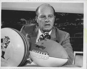 Clive Rush being intorduced as the Boston Patriots head coach