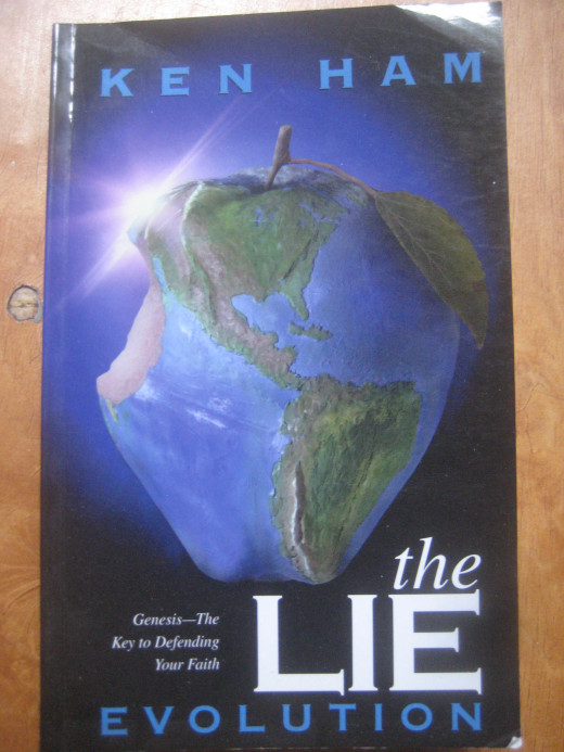 Book cover on The Lie: Evolution by Ken Ham (Photo Source: Ireno Alcala aka travel_man1971)