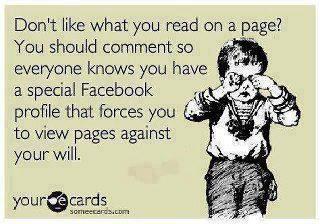 Yes, facebook sarcasm.