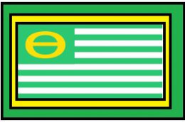 Earth Day flag created by Ron Cobb.