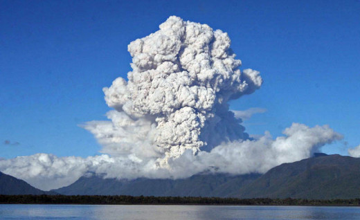 The massive power of volcanic eruptions will soon begin to affect the Earth as a whole as this activity increses.