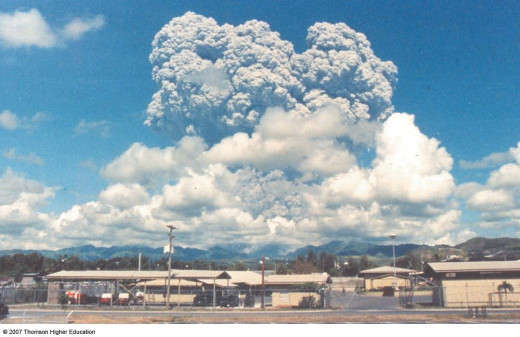 Volcanoes create climate change but are not caused by climate change.