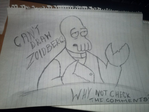 Drawing Zoidberg is pretty easy, even if the drawing is not perfect, what is important is the meme