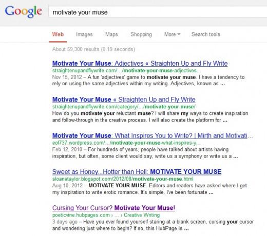A screenshot of a recent online search