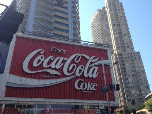 The infamous Coca Cola sign