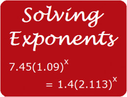 Solve exponential equations with algebra.