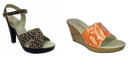 """Women's Magdesian """"Liza"""" (left), and """"Priya"""" (right). Trendy sandals and shoes Made in the USA,"""