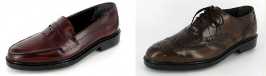 """Men's Johansen shoes: Halifax, $139 (left), and """"Bristol"""" (right), $139. American made shoes for men."""