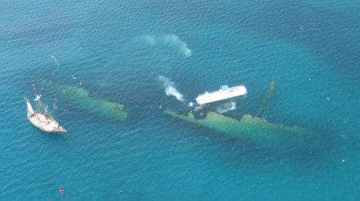 The Antilla just off Aruba