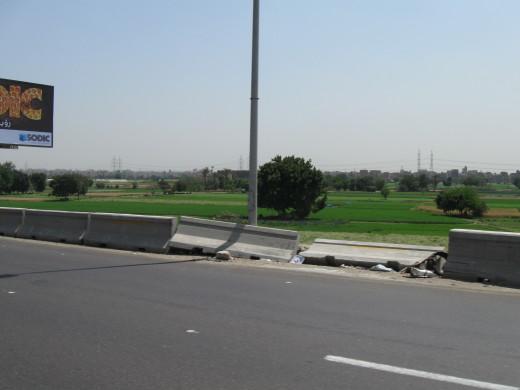 Fertile fields fed by the Nile