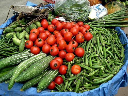 Use fresh vegetables in preparing salads as comfort foods
