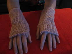 Quick Crochet - Fingerless Mittens for Men and Women