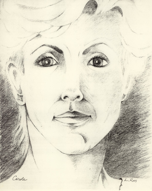 Carole - pencil drawing from life.
