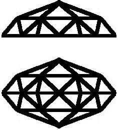 Rose Cut both single hemisphere and double hemisphere cuts