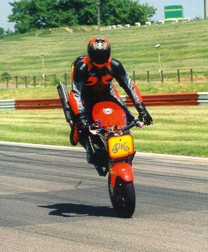 """The Grandfather of all motorcycle tricks shows how to do a """"Stoppie"""""""