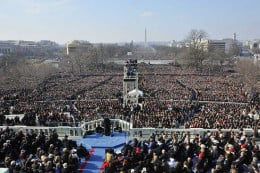 Picturesque american Realpolitik in Action: Obama's Inauguration Speech and his supporters on January 21, 2013