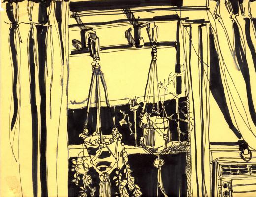 Hanging Plants - Black Marker