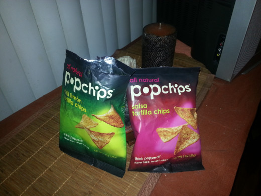 The two Popchip Tortilla flavors that I tried.